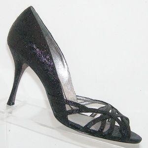 Adrianna Papell 'Fallon' black foiled heels 8.5M